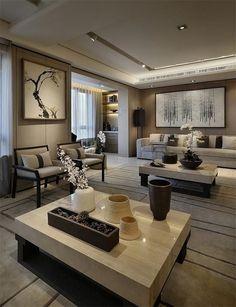 PARK RESIDENCE- Tianjin Wanke [Parker Crest] model room - Ling child of works - House / Villa / foreign design works real indoor person case