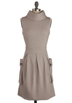 I'm thinking perfect fall dress. Boots, and maybe leggings, or just cute flats to complete the look.