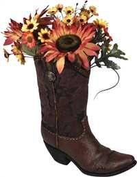 Cowboy Boot Decorative Vase