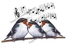 Clip Art: Three Birds Singing Happy Birthday, With Musical Staff Happy Birthday Birds, Singing Happy Birthday, Happy Birthday Quotes, Happy Birthday Images, Happy Birthday Greetings, Birthday Messages, Birthday Clips, Birthday Songs, It's Your Birthday