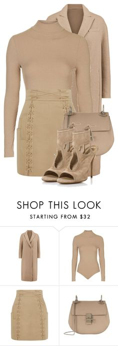 """Untitled #3246"" by xirix ❤ liked on Polyvore featuring Brunello Cucinelli, Topshop, Balmain, Chloé, Aquazzura, women's clothing, women, female, woman and misses"