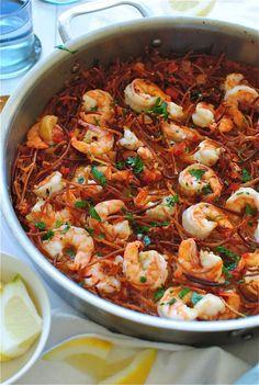 Paella with Shrimp | bevcooks.com