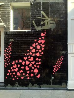 """Female street artist GILF threw up this valentines day inspired Iran piece entitled """"To Tehran with Love"""""""