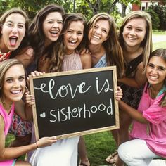 """Love is... *Member's name*""  For door tags in the sorority house!"