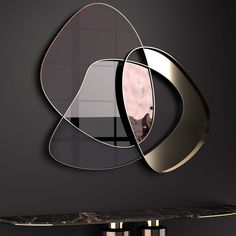 Exclusive Contemporary Italian Abstract Wall Mirror at Juliettes Interiors. Küchen Design, Wall Design, House Design, Wall Mirror Design, Wall Mirror Ideas, Mirror Panel Wall, Round Wall Mirror, Mirror Mirror, Interior Design