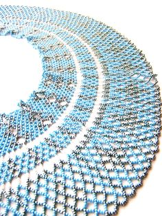 Blue Empress Handmade beaded necklace with tiny by ArtFromKryg