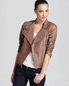 Marc New York Asymmetric Moto Jacket with Cotton Canvas | Bloomingdale's