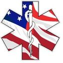 American Flag Star Of Life - Decal  Change the text or add your own text to this sticker.  Contact us today to customize this sticker.