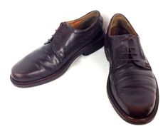 ECCO-Shoes-LEATHER-Brown-OXFORDS-Lace-Up-COMFORT-Walking-CASUAL-Mens-9-5-43