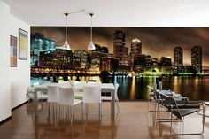 amazing beautiful cool awesome creative rooms walls mural designs ideas pics images photos pictures amazing 4 25 Most Creative Wall Painting Design Ideas Creative Wall Painting, Custom Wall Murals, Room Decor, Wall Decor, Ideas Geniales, Decorate Your Room, Dining Room Design, Dining Rooms, Designer Wallpaper