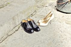 Julie's wedding shoes
