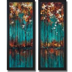 Luis Solis 'The Mirror I and II' Framed 2-piece Canvas Art Set (overstock)