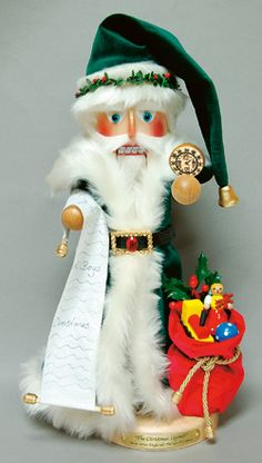British Father Christmas Nutcracker:: A splendid brand-new creation in the popular 'Christmas Legends & Traditions' Series. Crafted by Steinbach of Germany