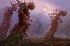 Tomasz Alen Kopera Movement surrealism Type oil on canvas Dimensions 91 x 137 [cm] / x Year : 2013 Fantasy Paintings, Fantasy Art, Art Paintings, Art Visionnaire, Angel Artwork, Photo Images, Bing Images, Mystique, Visionary Art