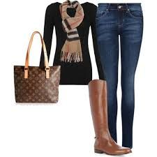 Image result for burberry scarf outfit