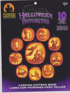 Pumpkin Masters Pumpkin Carving Stencil Pattern Book New $2.25 @oldbaloo  LOVE this!