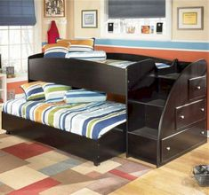 Stylish Bunk Beds are hard to find in a world filled with amazing furniture options. This is why we prepared a list of 30 Fresh Space-Saving Bunk Beds For Your Home Unique Bunk Beds, Custom Bunk Beds, Modern Bunk Beds, Modern Loft, Bunk Beds Boys, Kid Beds, Loft Beds, Trundle Beds, Bunk Beds With Storage