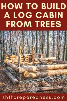 Diy Log Cabin, How To Build A Log Cabin, Small Log Cabin, Building A Cabin, Log Cabin Kits, Cabin Plans, Cabin Ideas, Homestead Survival, Wilderness Survival