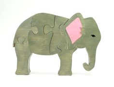 Elephant Puzzle by berkshirebowls on etsy
