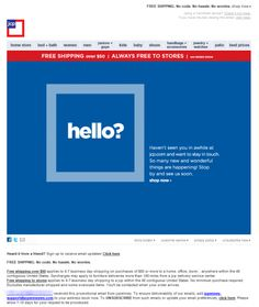 JCP || reactivation email