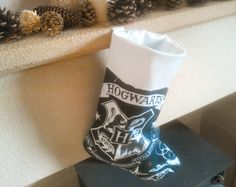 Hogwarts Christmas stocking  Harry Potter luxury by tykesboutique