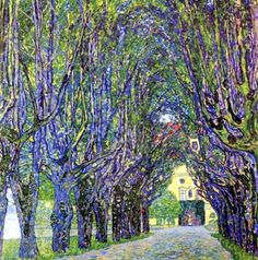 Avenue in Schloss Kammer Park by Gustav Klimt