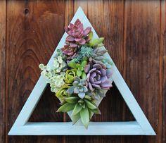 Plantador del triángulo corte fuera Vertical jardín hecho por encargo