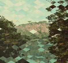 Tour poster collage for Tape Deck Mountain /  Nik Ewing