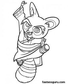 Printable Kung Fu Panda Master Shifu coloring pages - Printable Coloring Pages For Kids