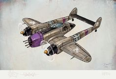 "This here is a complete Focke-Wulf ""Hellhound"" from the game Crimson Skies. Concept Ships, Concept Cars, Dieselpunk, Steampunk Airship, Aircraft Design, Retro Futurism, War Machine, Spacecraft, Anime"