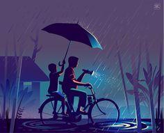 dribbble_wayfinding_home.png by ranganath krishnamani Indian Illustration, Digital Illustration, Dream Illustration, Illustration Styles, Creative Illustration, Pics Art, Indian Art, Art Drawings, Design Inspiration