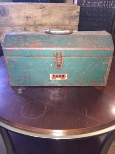 Park Metal Tool Box by UpTheAntiqueCo on Etsy