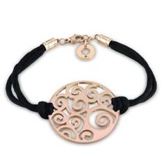 black cord and stainless steel with pink plating