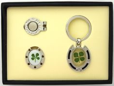 4 Leaf Clover Key Chain Ball Marker Gift Set by Good Luck Brand.  Buy it now @ ReadyGolf.com