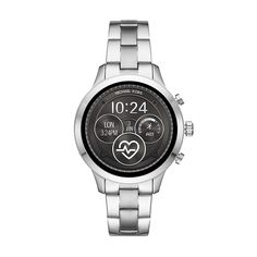 Shop Michael Kors Access Runway Smartwatch Stainless Steel Silver-Tone at Best Buy. Smartwatch, Michael Kors Access Watch, Emporio Armani, Rose Gold Apple Watch, Le Pilates, Mens Designer Watches, Mens Silver Necklace, Silver Ring, Jewelry