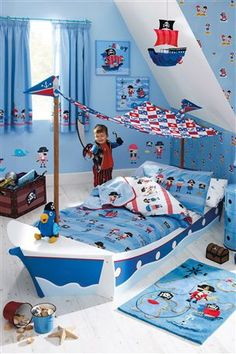 Love the idea of making bed into a boat and must buy this bedding
