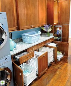 laundry room storage    Laundry Room - traditional - laundry room - rblinder