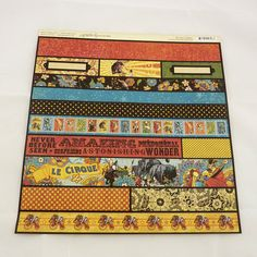 14 piece Graphic 45 Le Cirque Collection borders :  love the vintage look of these images.
