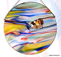 Harlequin Multicolored Stained Glass by MagickalHealingArts, $240.00