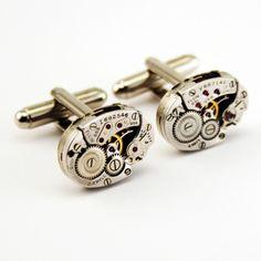 Timepiece cufflinks