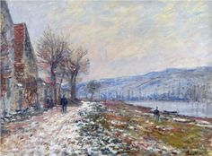 The Siene at Lavacourt, Effect of Snow - Claude Monet