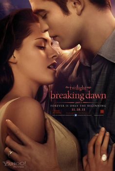 Robert Pattinson and Kristen Stewart share a sensual embrace in this poster for their film The Twilight Saga: Breaking Dawn! Breaking Dawn Movie, Twilight Breaking Dawn, Twilight Film, Twilight New Moon, Twilight Edward, Love Movie, I Movie, Movie Stars, Movie Times