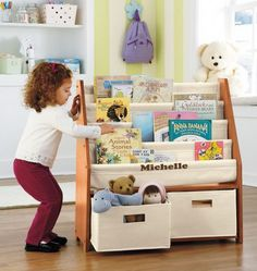 Sling bookcase.
