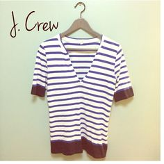 J. Crew shirt Beautiful J. Crew stripped top. Perfect for spring and summer. In good condition. Fits small/medium. J. Crew Tops