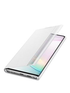 Samsung Samsung Galaxy Note Clear View Cover White in Silver Battery Recycling, Recycling Bins, Galaxy Note 10, Samsung Galaxy, Phone Cases, Cover, Black, Products, Black People