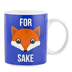 They say a picture is worth a thousand words, but who needs a thousand when one will do the job just fine? So embrace the fox as your friend, and let the For Fox Sake Mug say everything you need to say today. With this ingeniously cute mug,you can relax with a cuppa.#fox #iwoiwo