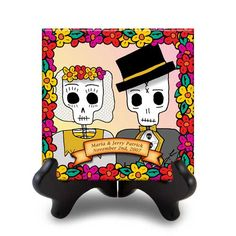 casados personalized tile with stand