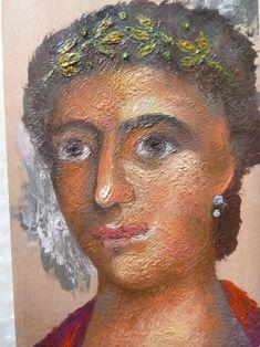 Ancient face -Encaustic painting by Aggeliki Papadomanolaki - agiografia.tumblr.com Encaustic Painting, I Icon, Face, The Face, Faces, Facial