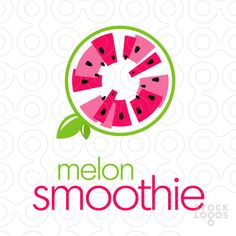Full, complicated seeming design with limited colors. Melon Smoothie, Smoothies, Modelo Logo, Logo Branding, Branding Design, Juice Logo, Fruit Logo, Bar Logo, Logo Food