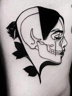Tatuajes Blanco Y Negro